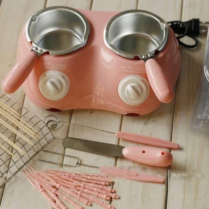 Электрический набор для фондю с двумя чашами Chocolatiere