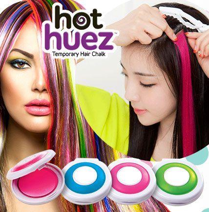 Мелки для окрашивания волос Hot Huez 4 штуки
