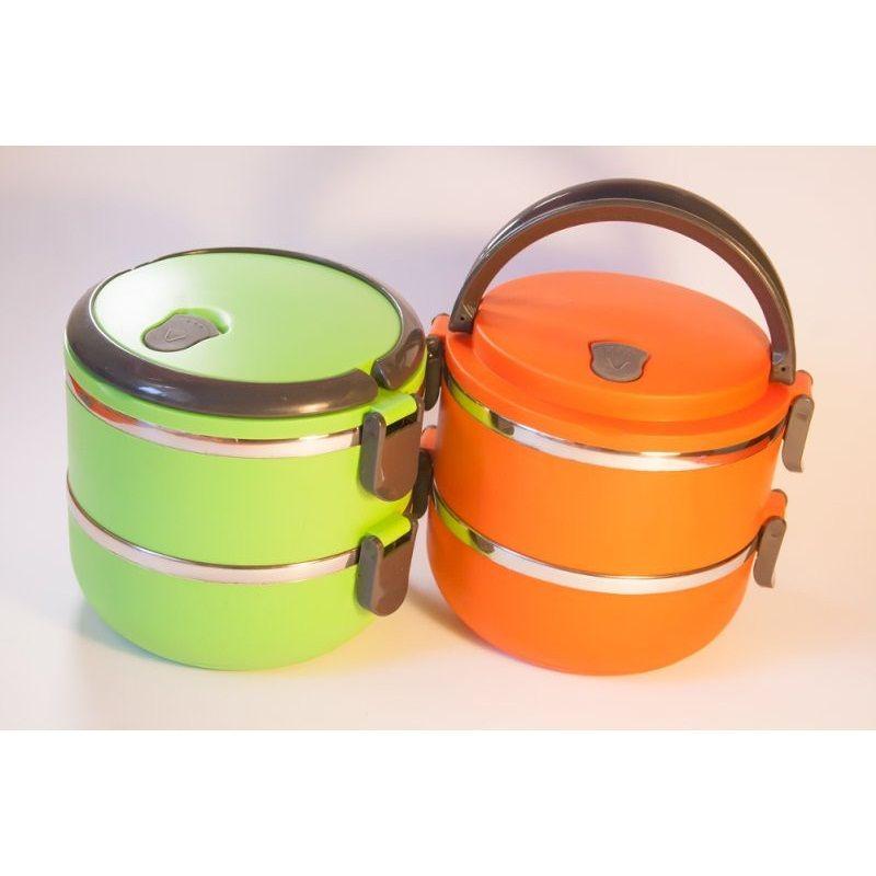 Термо ланч-бокс из нержавеющей стали, 1,4 л (Цвет: Оранжевый)