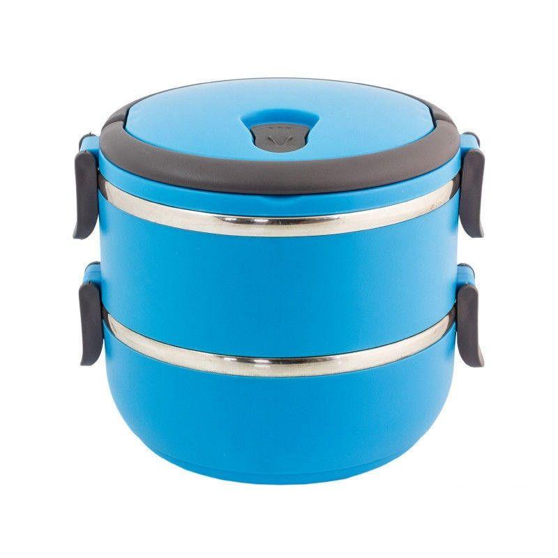 Термо ланч-бокс из нержавеющей стали, 1,4 л (Цвет: Голубой)
