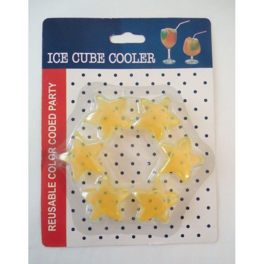 Многоразовый лёд для охлаждения напитков Ice Cube Cooler, 6 шт.