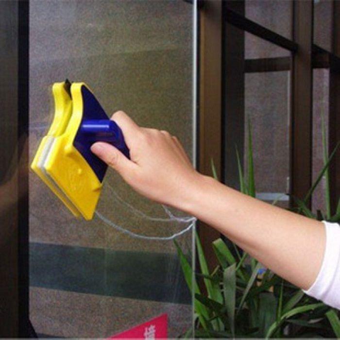 Магнитная щетка для двухстороннего мытья окон (стекло до 6 мм)