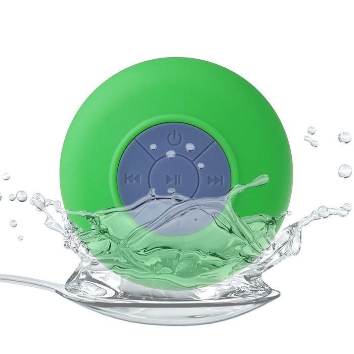 Водонепроницаемая беспроводная Bluetooth колонка для душа (Цвет: Зеленый)