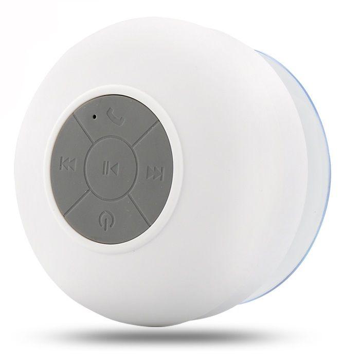 Водонепроницаемая беспроводная Bluetooth колонка для душа (Цвет: Белый)
