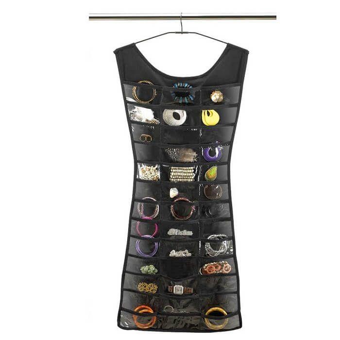 Органайзер для бижутерии в виде платья