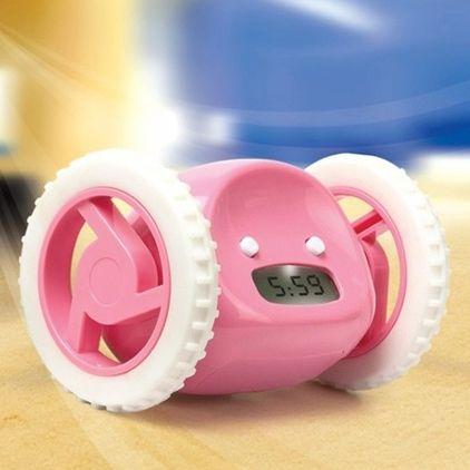 Будильник убегающий Alarm Clocky Run (розовый)
