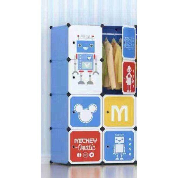 Детский складной шкаф Микки Маус (70-35-140)