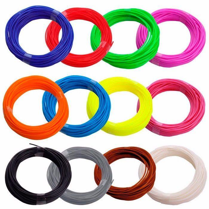 Набор ABS-пластика для 3D ручки (18 цветов + 2 светящихся, по 10 м)