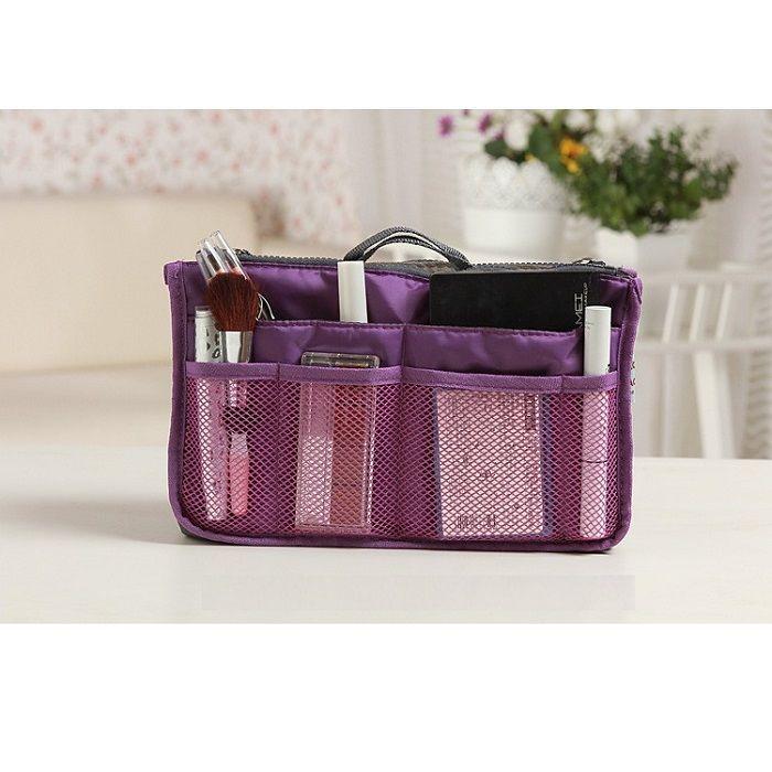 Органайзер в сумку для гаджетов и мелочей (цвет фиолетовый)