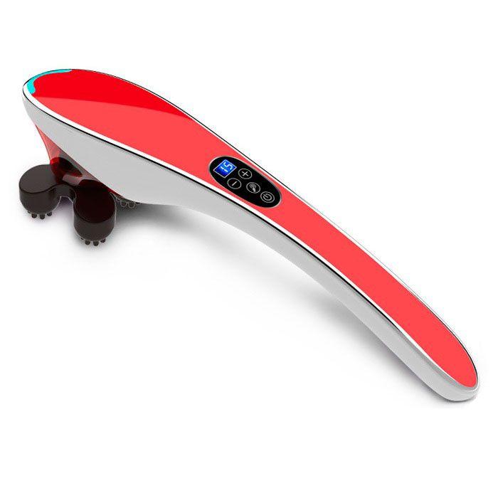 Ручной массажер для тела Body Massager c ИК-прогревом (Цвет: Красный)