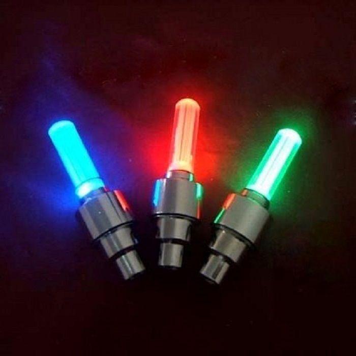 Светящиеся колпачки на ниппель 4 цвета