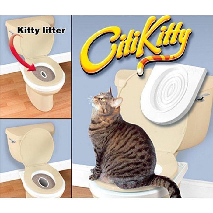 Система приучения кошек к унитазу  Citi Kitty Cat Toilet Training Kit