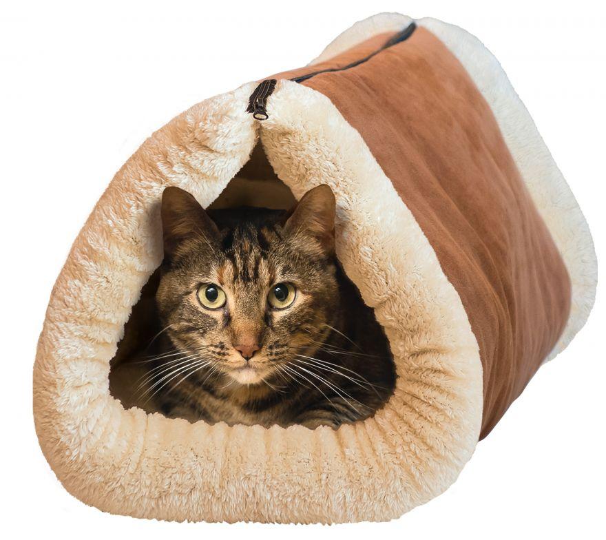 Лежак-кровать для собак и кошек 2 в 1 Kitty Shack