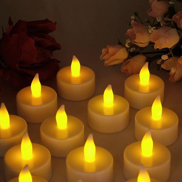 Комплект светодиодных свечей - таблеток 12 штук