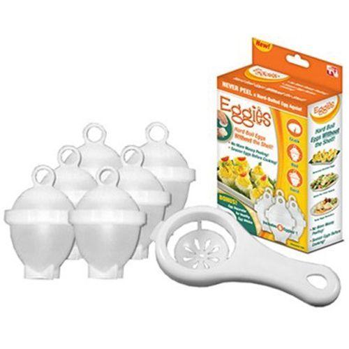 Формы для варки яиц без скорлупы Eggies 6 штук + сепаратор