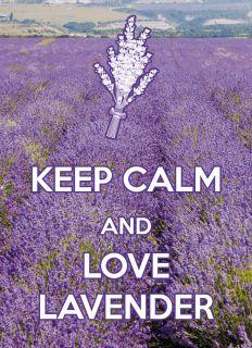 Почтовая открытка KEEP CALM and love lavender