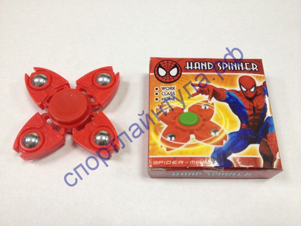 Спиннер детский Супергерои 4 луча, пластик