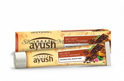 Зубная паста с гвоздичным маслом Левер Аюш | Lever Ayush Anti Cavity Clove Oil Toothpaste