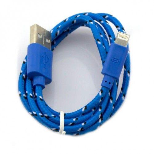 Шнур iPhone 5 - USB POL-901 (СИНИЙ)