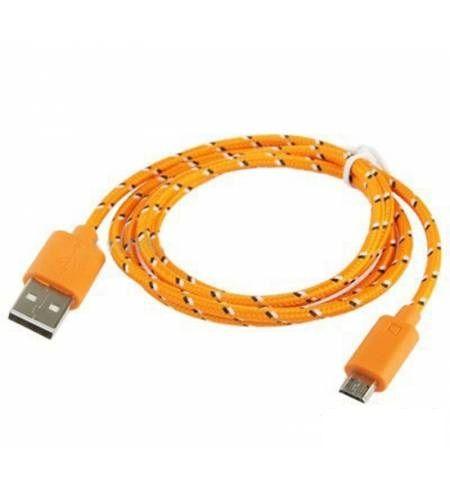 Шнур Micro - USB POL-801 (ОРАНЖЕВЫЙ)