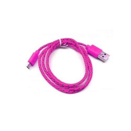 Шнур Micro - USB POL-801 (ТЕМНО-РОЗОВЫЙ)