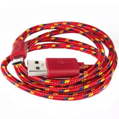 Шнур Micro - USB POL-801  (КРАСНЫЙ)