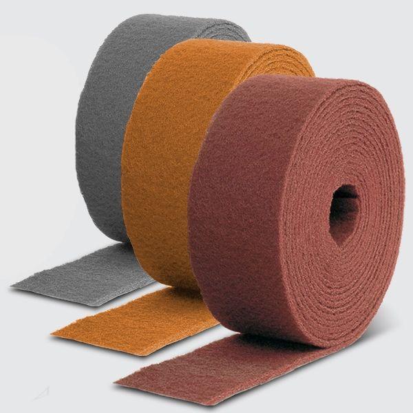 Smirdex Нетканый абразивный материал в рулоне AVF 320 (красный), 115 мм x 10 м SMIRDEX