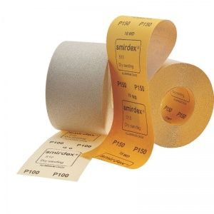 Smirdex P220 Абразивная бумага в рулонах SMIRDEX 510 White, 116 мм x 50 м, (упаковка 1 шт.)