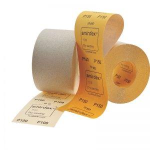 Smirdex P400 Абразивная бумага в рулонах SMIRDEX 510 White, 116 мм x 50 м, (упаковка 1 шт.)