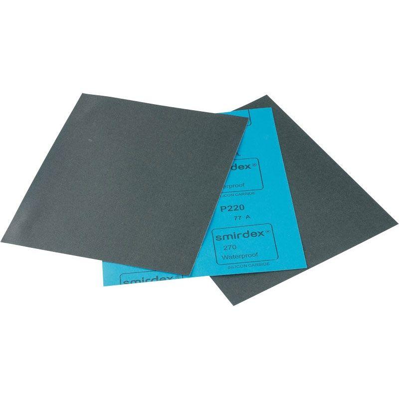 Smirdex P280 Водостойкая абразивная бумага SMIRDEX 270, 230 мм x 280 мм, (пачка 50 шт.)