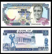 Замбия 10 Квач 1989-91 UNC