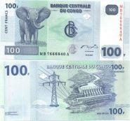 Конго - 100 Франков 2007 UNC