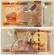 Уганда 1000 шиллингов 2013-2015 UNC