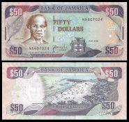 Ямайка - 50 Долларов 2008 UNC