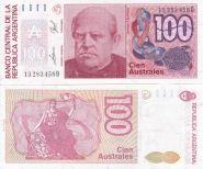 Аргентина - 100 Аустралей 1989-90 UNC