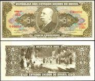 Бразилия 5 крузейро 1964 UNC