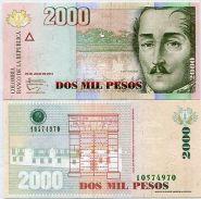 Колумбия 2000 Песо 2014 UNC