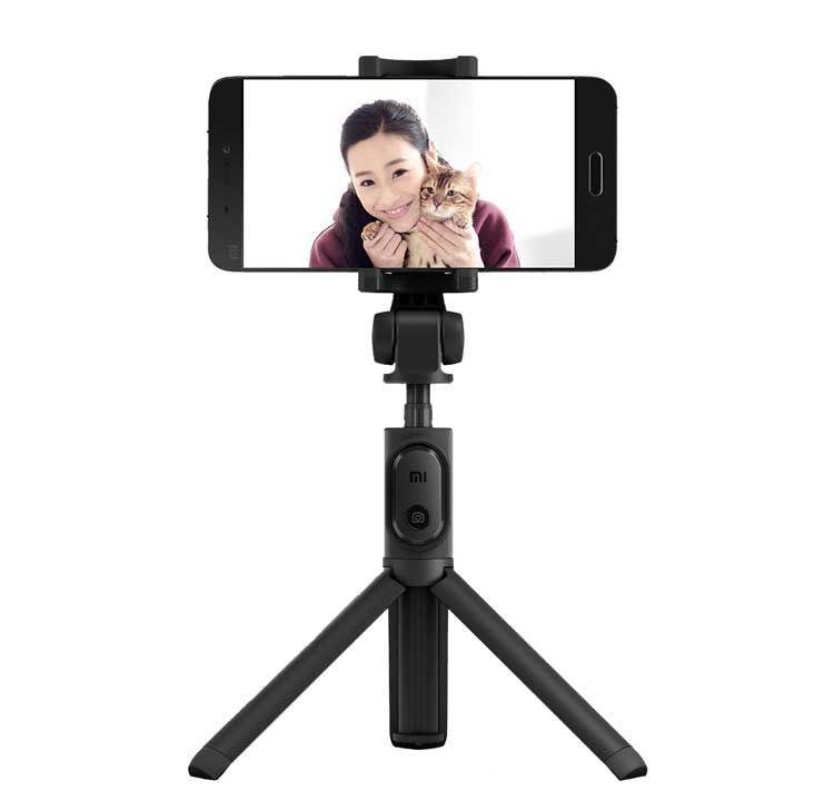 Монопод для селфи Xiaomi Selfie Stick Tripod  (С пультом/ Черный)