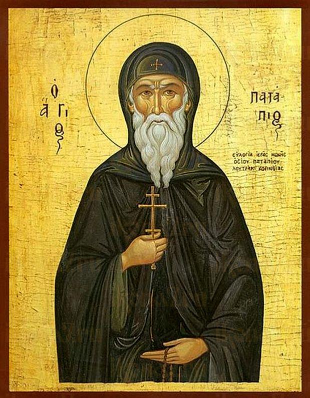 Патапий Фивский, (Константинопольский)  (рукописная икона)