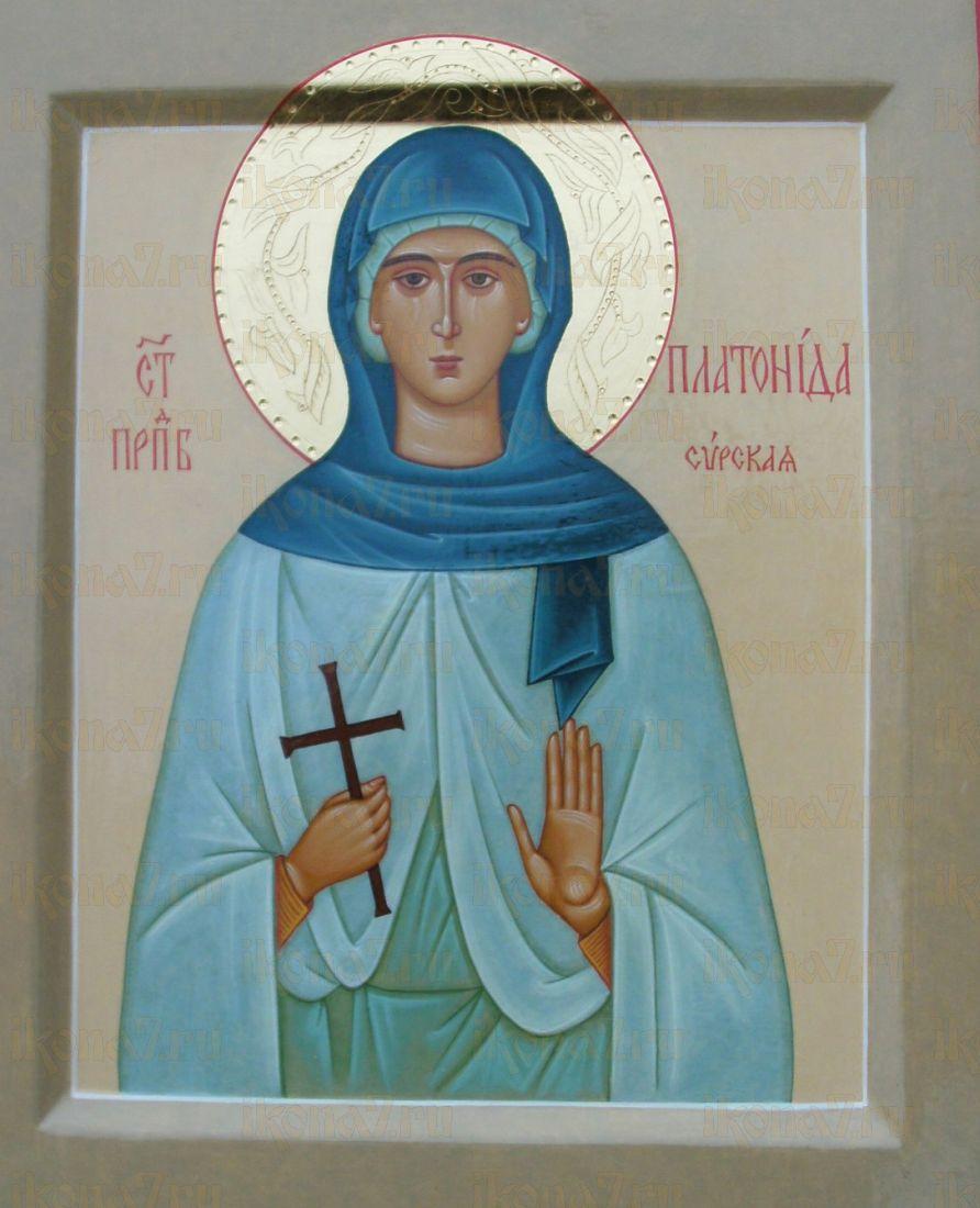 Платонида Сирская (рукописная икона)