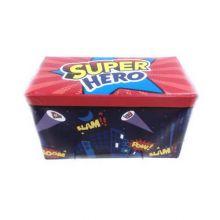 Короб-пуф для хранения игрушек, 60х31х35 см, Рисунок: Супергерой