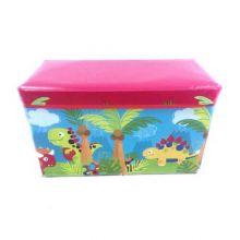 Короб-пуф для хранения игрушек, 60х31х35 см, Рисунок: Динозавры