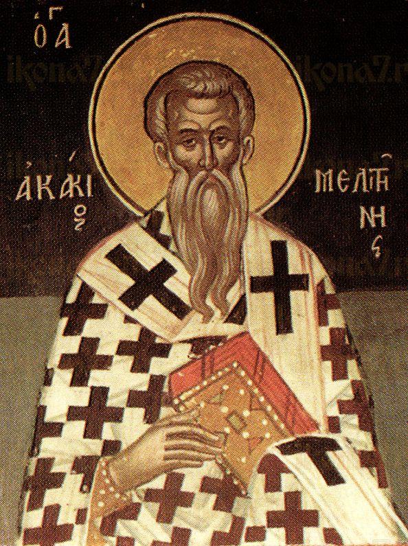 Акакий Мелитинский  (рукописная икона)
