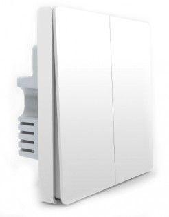 Умный выключатель Xiaomi Aqara Smart Light Switch ZigBee Version (Двойной без нулевой линии) White (QBKG03LM) (RU/EAC)