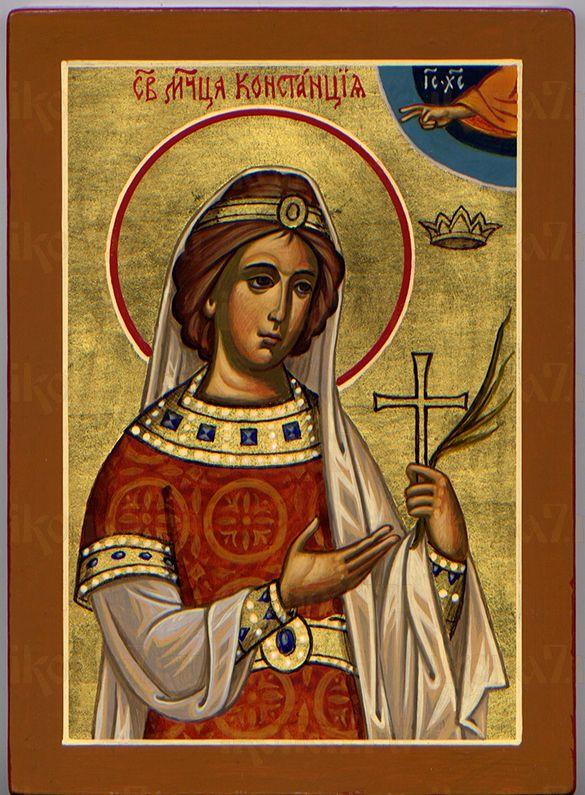 Констанция Римская  (рукописная икона)