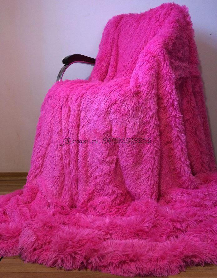 Меховое покрывало (Ярко Розовое)
