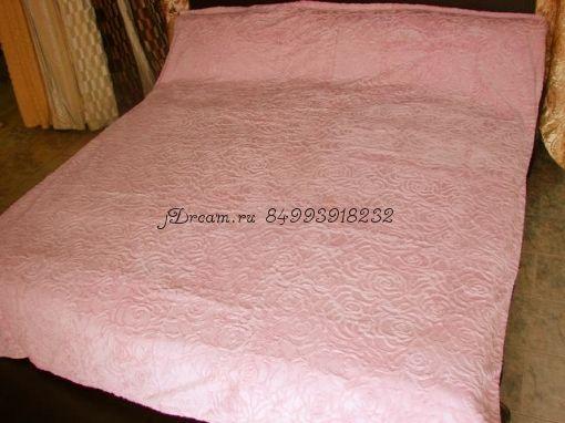 Меховое покрывало Розочки (Розовое)