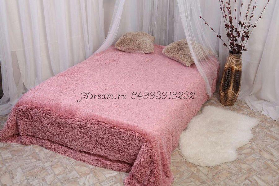 Меховые покрыва (розовое)