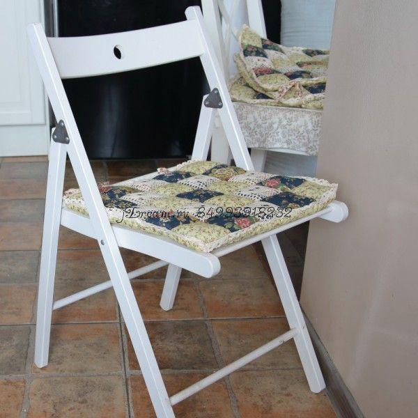 Сидушка на стул темно синия