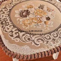 Сидушка на стул гобеленовая коричневая